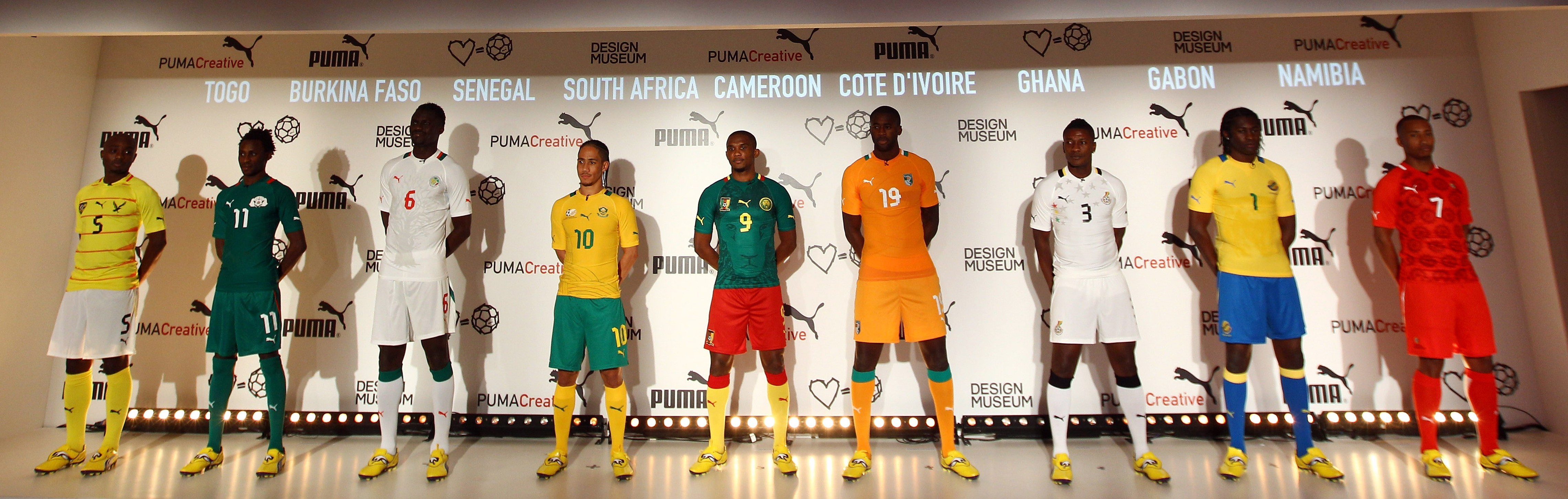 Football kit releases  PUMA unveil 2012 Africa Cup of Nations kits ... f102cc9da