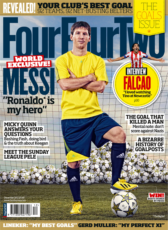 fourfourtwo cover reveals new adizero football boot sportlocker. Black Bedroom Furniture Sets. Home Design Ideas