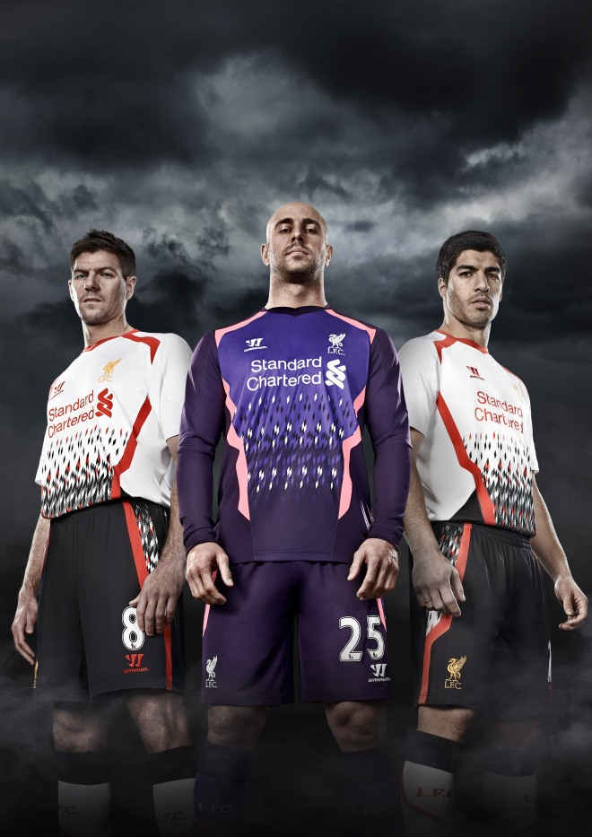 f59d638a3 Football kit release  Warrior Sports unveil Liverpool 2013 14 Away ...