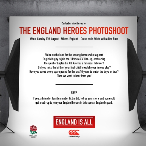 Canterbury - The England Heroes Photoshoot
