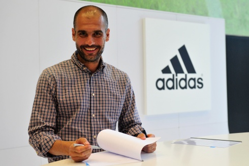 Pep Guardiola Visits Adidas Headquarter