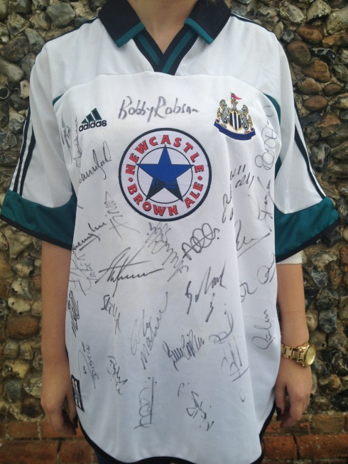 Signed Newcastle Jersey 1999-2000