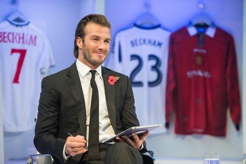 David Beckham Global Book Signing On Facebook