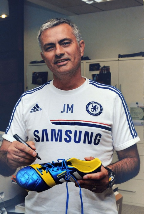 Jose Mourinho Signed, Worn Boots