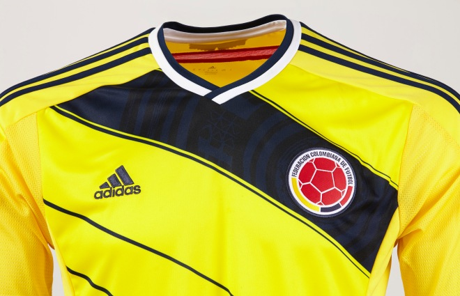ca7e0d490 World Cup 2014 football kit release  adidas unveils new Colombia kit ...