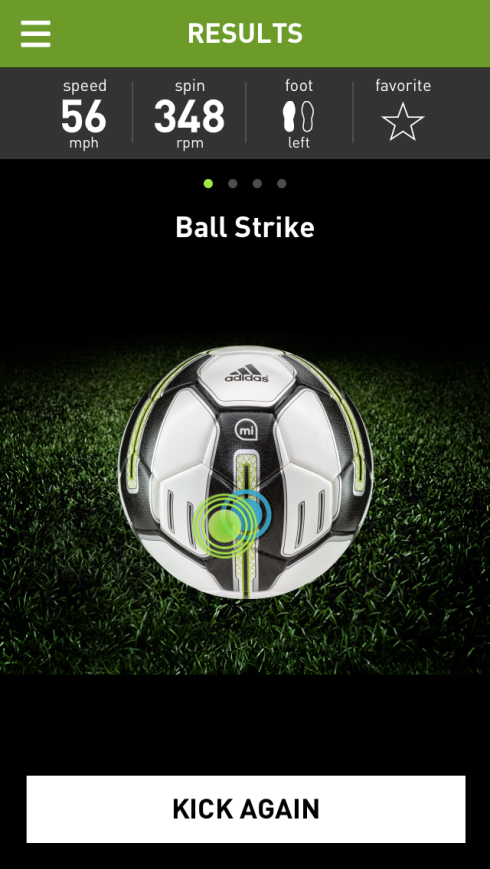 strike blue dot