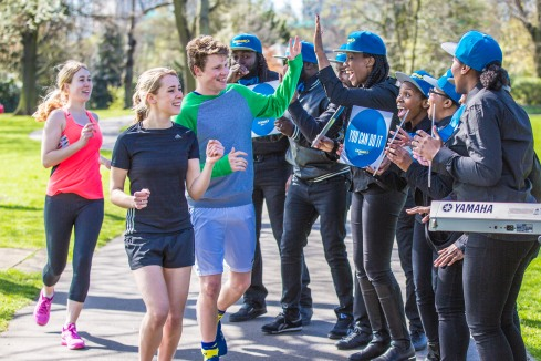 Lucozade Sport's Choir of Motivation, Victoria Park, London, Britain - 12 Apr 15