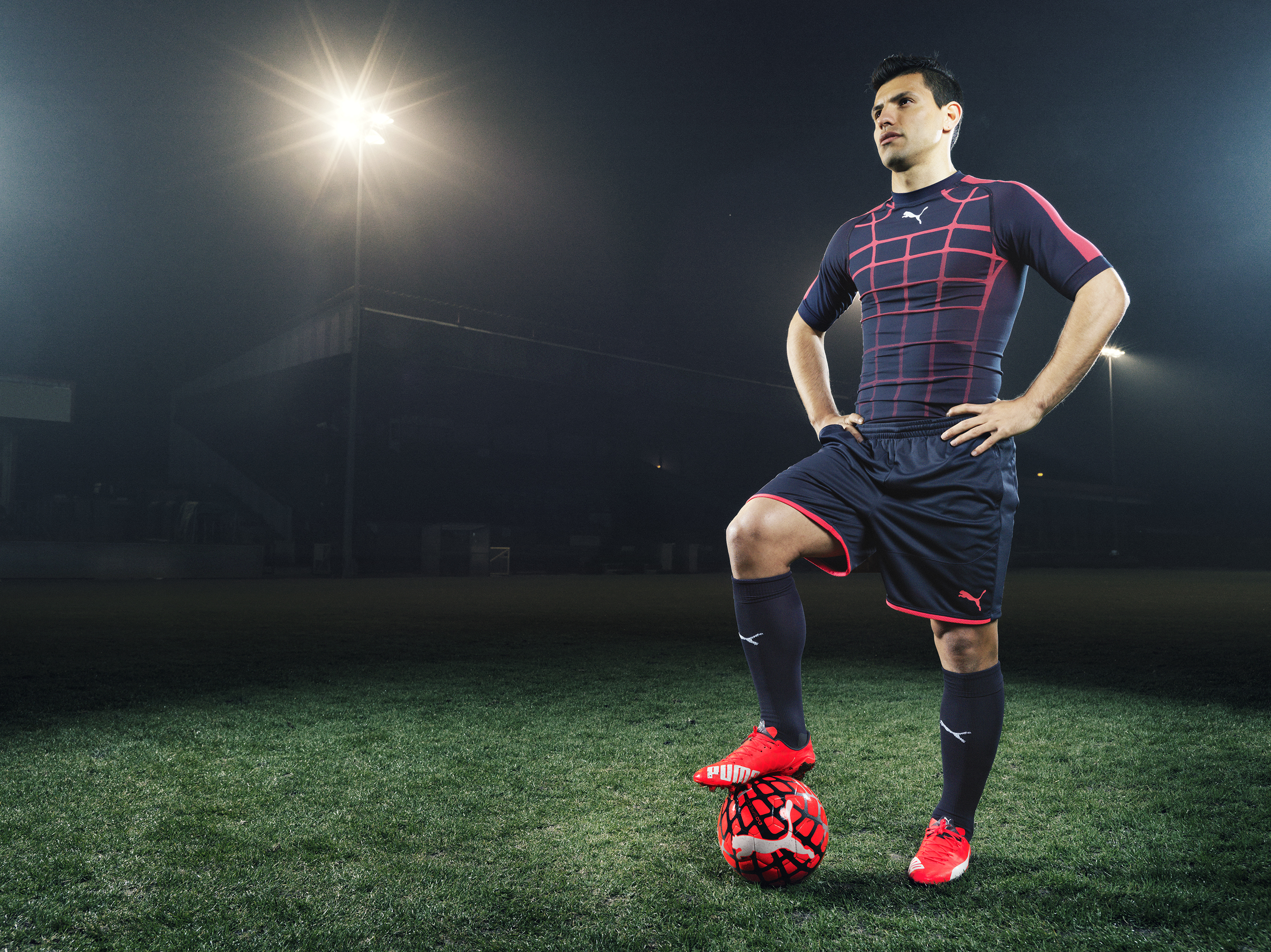 look out for cheap sale newest collection Sergio Aguero wears the new PUMA evoSPEED SL Football Boot_4 ...