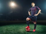 Sergio Aguero wears the new PUMA evoSPEED SL Football Boot_4