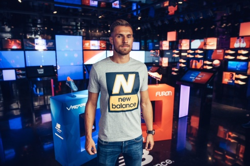 LONDON, ENGLAND - JULY 08:  New Balance player, Arsenal's Aaron Ramsey attends the launch of the New Balance Visaro and Furon boot at Pro Direct LDN19 on Carnaby Street on July 8, 2015 in London, England.  (Photo by Scott Heavey/Getty Images for New Balance) *** Local Caption *** Aaron Ramsey